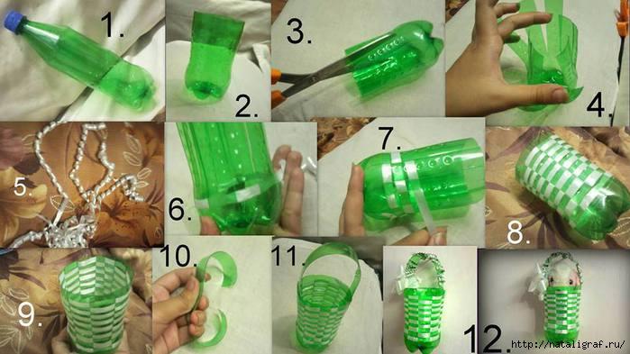 Люстра из бутылок своими руками фото