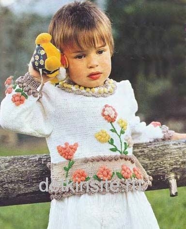 Схемы вязания детской одежды-модель для девочки 2-3 лет DETKINSITE.
