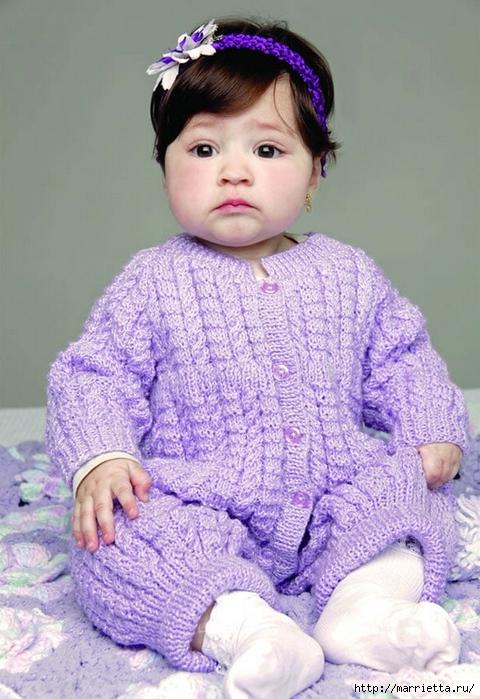 Вязание для детей. Теплый комбинезончик на ребенка от 3 до 6 месяцев (2) (480x700, 274Kb)