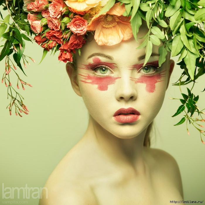 женщина цветок (700x700, 328Kb)