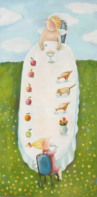 Завтрак кур, кота и эльфов (198x400, 57Kb)