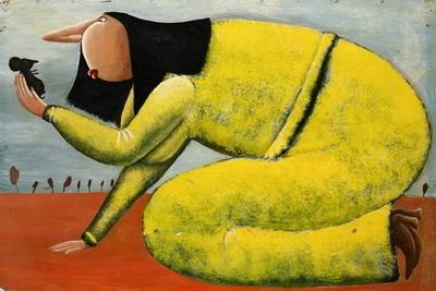 Мышь и девушка в желтом (400x267, 90Kb)