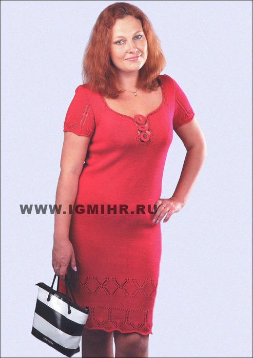 Фото моделей вязаных платьев для полных женщин