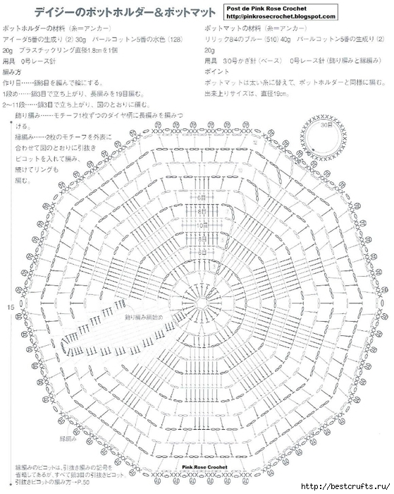 Вязание крючком. Салфетки и прихватки (4) (559x700, 287Kb)