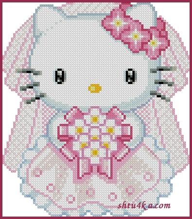 """Нравится Поделиться.  Рукоделие/Вышивка крестом.  Hello Kitty. a href= """"http..."""
