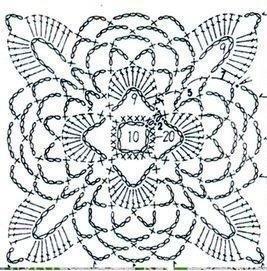 钩针。 渔网衣领(1)(267x271,83KB)