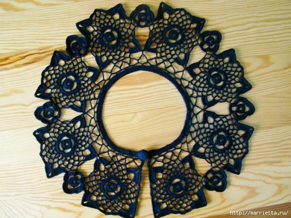 вязание крючком. ажурные воротники (9) (600x450, 252Kb)