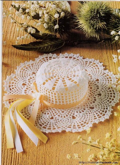 вязание крючком ажурные шляпки (10) (508x699, 325Kb)