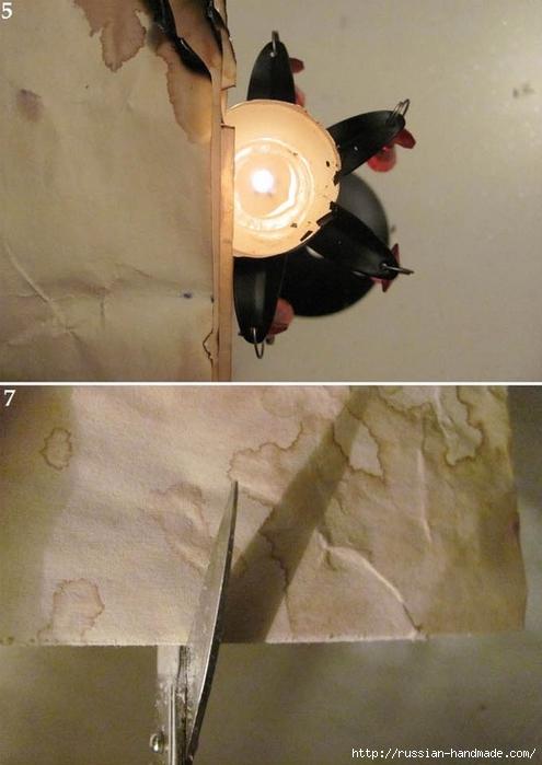 Цветы из бумаги. Как состарить бумагу для винтажных работ (5) (495x700, 202Kb)