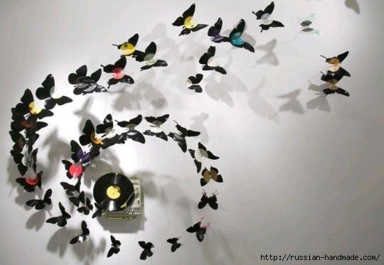 Бумажные бабочки в интерьере. Шаблон бабочки (4) (540x373, 107Kb)