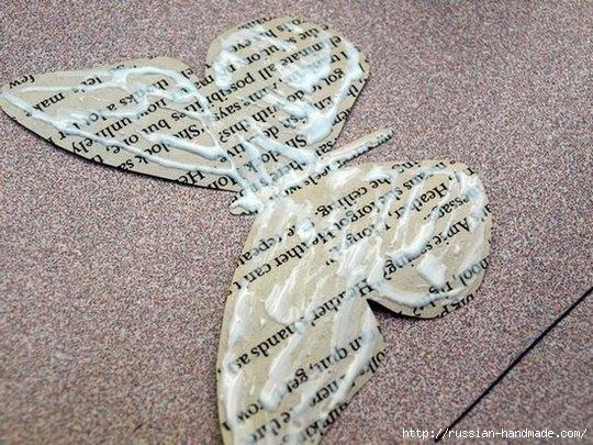 Бумажные бабочки в интерьере. Шаблон бабочки (8) (540x405, 206Kb)
