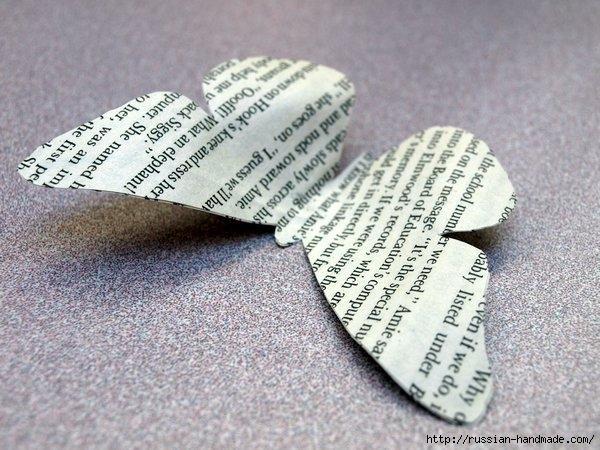 Бумажные бабочки в интерьере. Шаблон бабочки (10) (600x450, 197Kb)