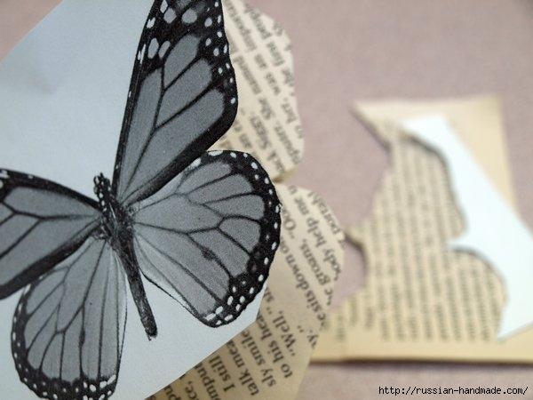 Бумажные бабочки в интерьере. Шаблон бабочки (12) (600x450, 118Kb)
