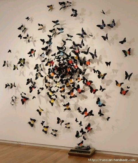 Интерьер с бабочками своими руками