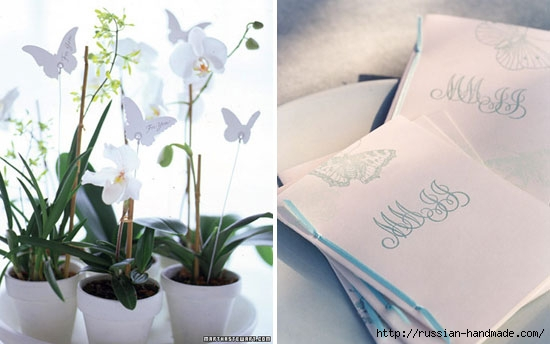 Бумажные бабочки в интерьере. Шаблон бабочки (19) (550x344, 105Kb)