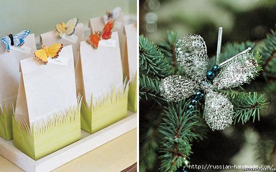Бумажные бабочки в интерьере. Шаблон бабочки (20) (550x344, 141Kb)