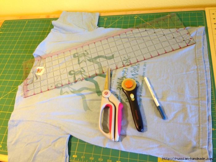 Как сделать авоську из старой футболки (9) (700x525, 281Kb)