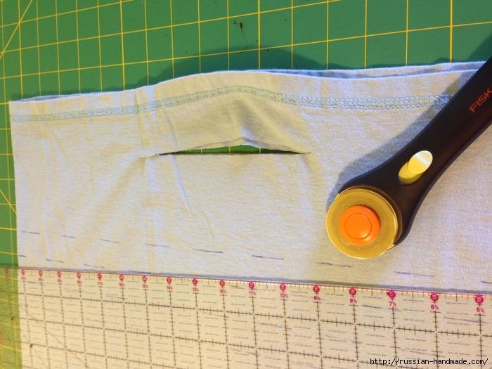 Как сделать авоську из старой футболки (13) (700x525, 286Kb)