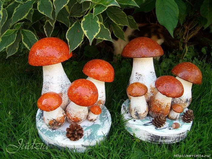 Сделать гриб своими руками