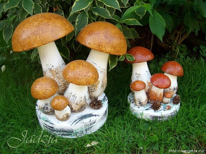 Как сделать грибочки из пенопласта и монтажной пены (6) (700x525, 403Kb)
