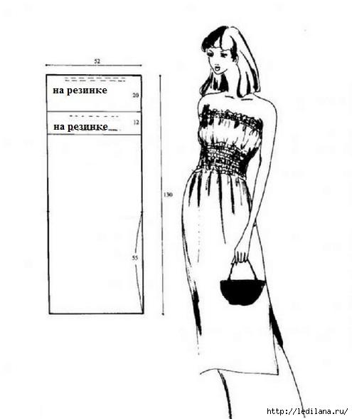 выкройка платья (495x588, 77Kb)