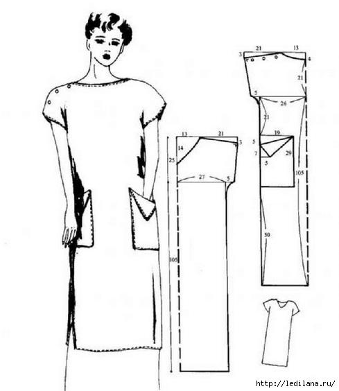 Выкройки несложных платьев своими руками