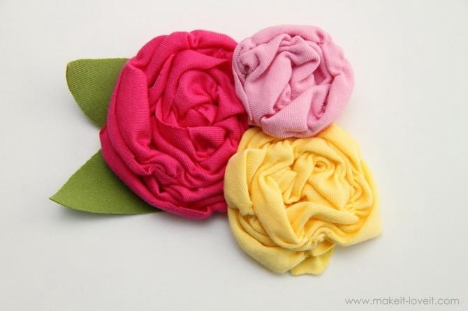 Цветок из трикотажа своими руками