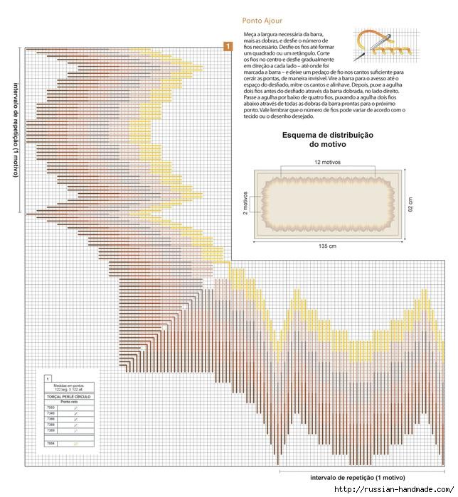 вышивка для скатерти в технике БАРДЖЕЛЛО (1) (644x700, 306Kb)