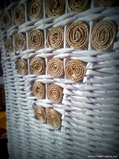 Плетение из газет. Поделки из колечек и тарелка из трубочек (14) (480x640, 221Kb)
