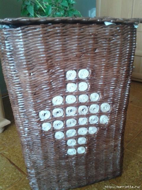Плетение из газет. Поделки из колечек и тарелка из трубочек (16) (480x640, 239Kb)