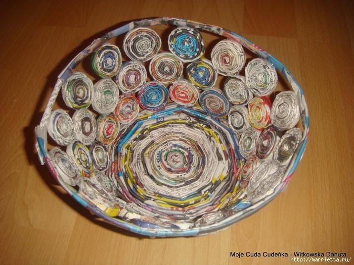 Плетение из газет. Поделки из колечек и тарелка из трубочек (18) (700x525, 327Kb)