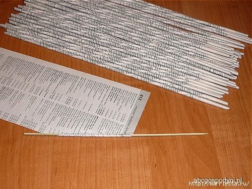Плетение из газет. Поделки из колечек и тарелка из трубочек (24) (500x376, 215Kb)