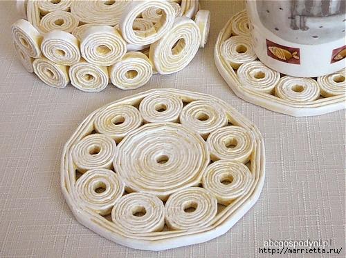 Плетение из газет. Поделки из колечек и тарелка из трубочек (29) (500x374, 200Kb)