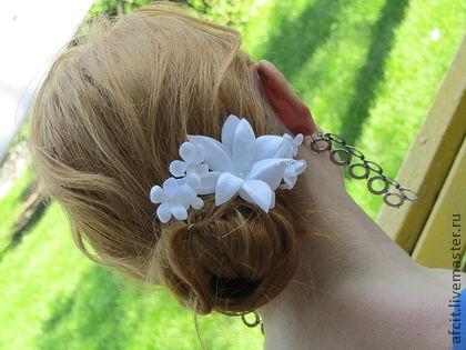 Как сделать лилию из волос видеоурок