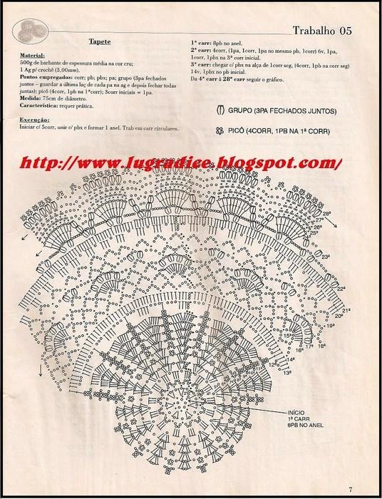 Схема с описанием коврик