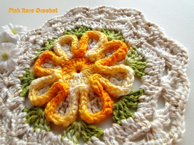 Цветочный мотив крючком для вязания пледов, шалей, покрывала и подушек (1) (640x480, 560Kb)