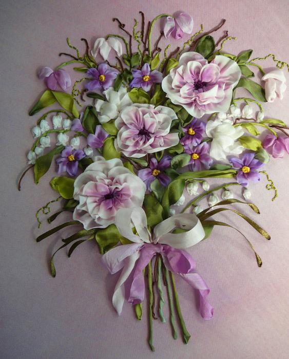 Картинки букетов цветов для вышивки 118
