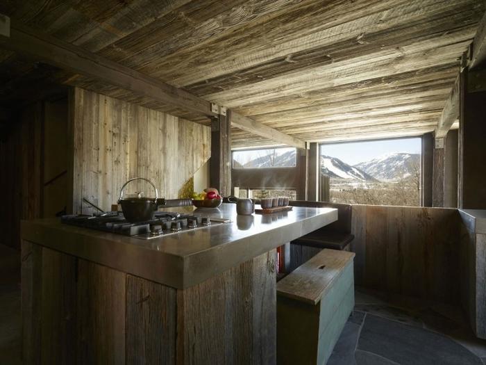 дизайн кухни шале