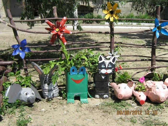 Огород бутылки для детского сада поделка