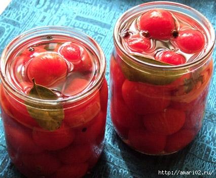 Субботний рецепт. Быстрые маринованные помидоры черри.