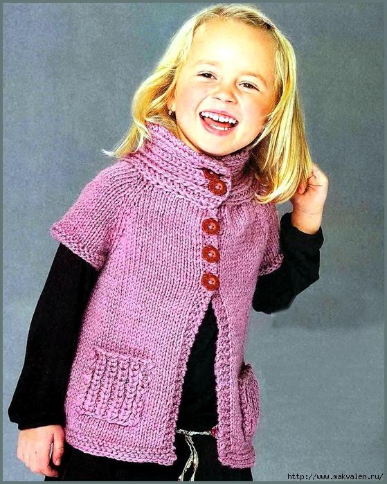 Детское вязание для девочек с описанием