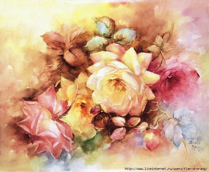 Винтажные картинки для декупажа цветы 3