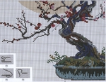 Схема вышивки Бонсай - Пожелание благополучия (Riolis) 2 из 2.
