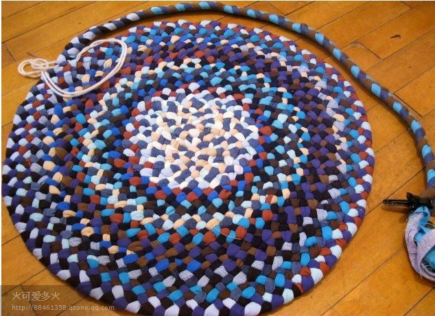 Вязаный коврик из полосок ткани своими руками