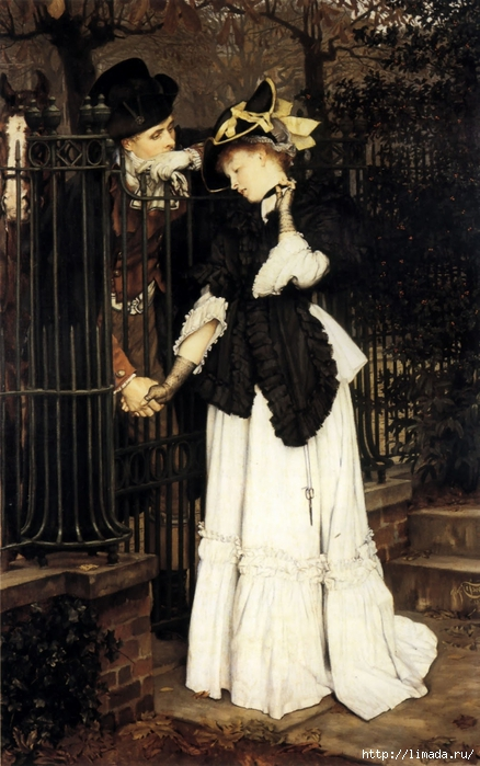James Tissot - The Farewell (438x700, 259Kb)