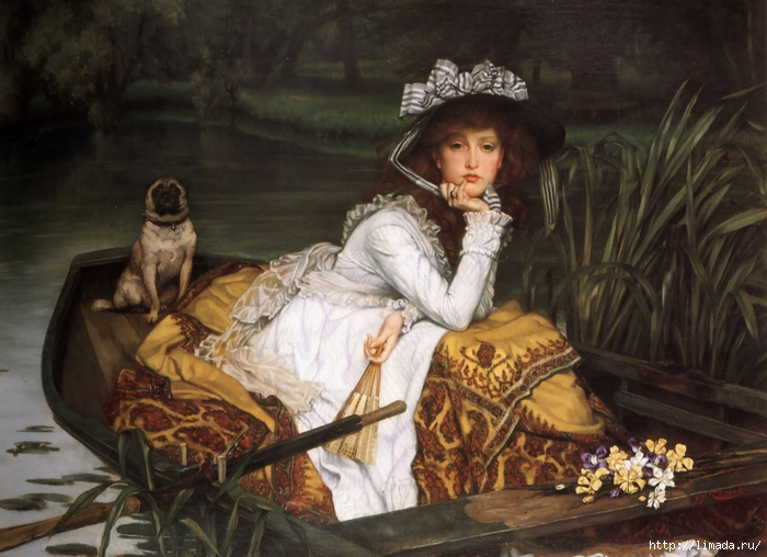 James Tissot - Young Lady in a Boat (700x508, 266Kb)