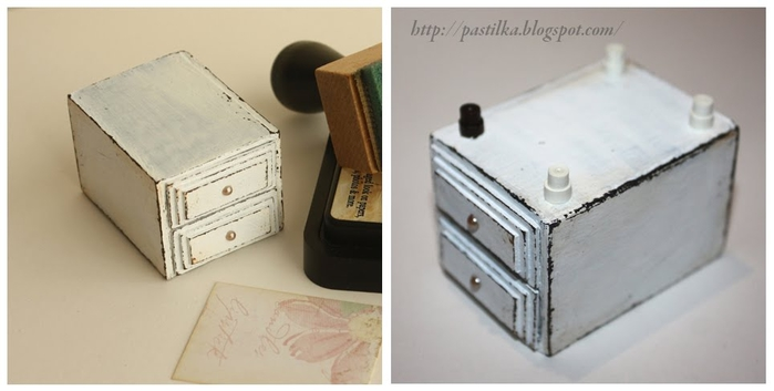 Маленький шебби-комодик из спичечных коробков. Мастер-класс (16) (700x353, 115Kb)