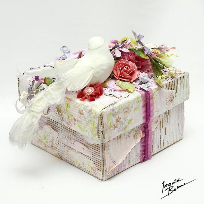 Коробочки для подарка из ободранного гофрокартона. Фото идеи (8) (700x700, 316Kb)