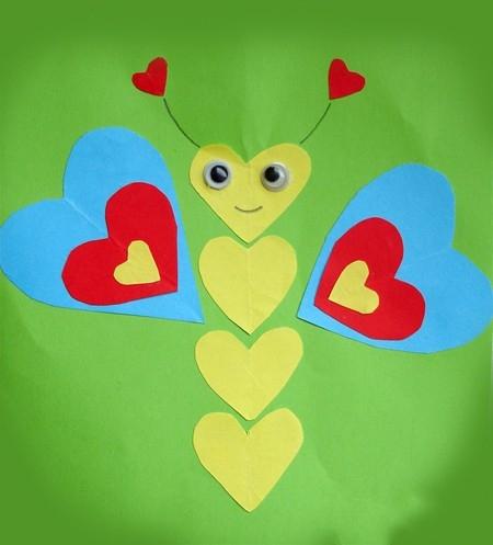 бабочка из сердечек (450x497, 91Kb)