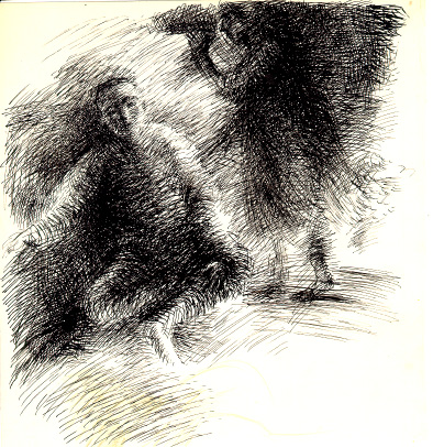 Выставка графических произведений Любови Горячевой 'Люди и лица'